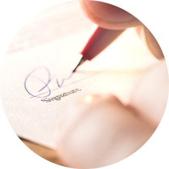 Signature de prêt